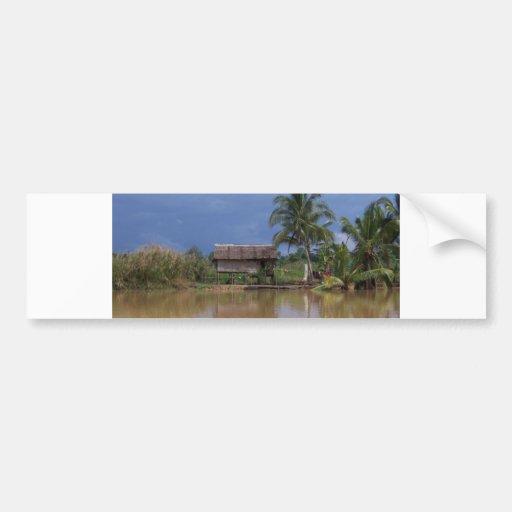 Costa del pueblo de Vietnam Pegatina De Parachoque