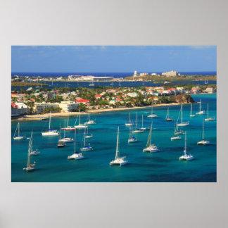 Costa del puerto de Marigot, San Martín Impresiones