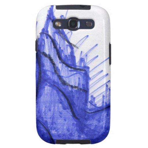 Costa del Seashell de los azules Samsung Galaxy S3 Cárcasas