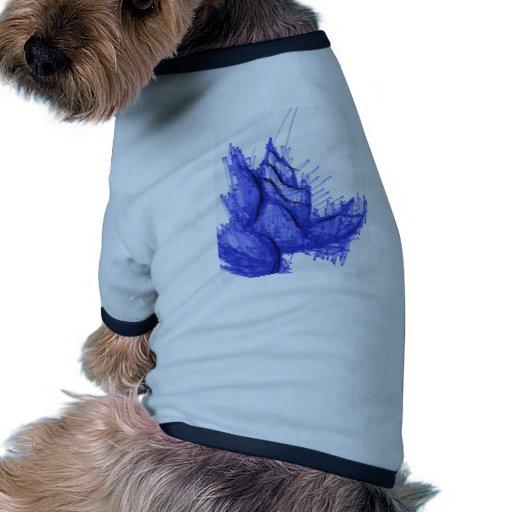 Costa del Seashell de los azules Camiseta De Mascota