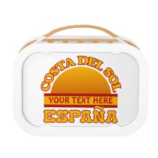 Costa Del Sol custom lunch box