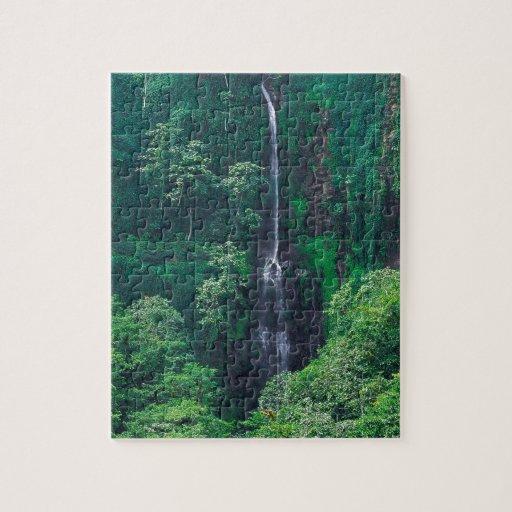 Costa enorme Rican de la cascada Rompecabezas Con Fotos