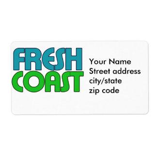 Costa fresca etiquetas de envío
