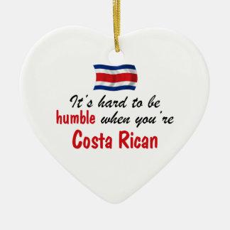 Costa humilde Rican Adorno Navideño De Cerámica En Forma De Corazón