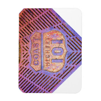 Costa Hwy 101 Imán Rectangular