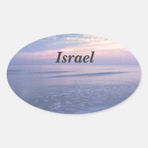 Costa israelí calcomanías ovaladas