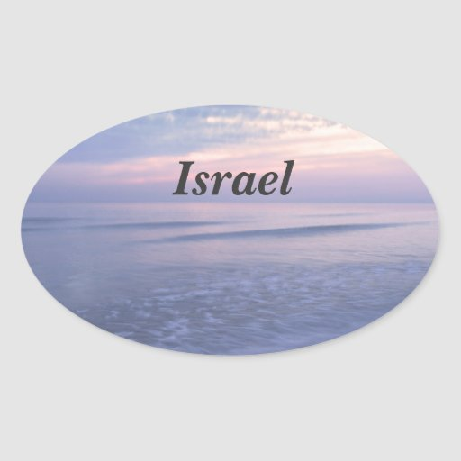 Costa israelí pegatina ovalada