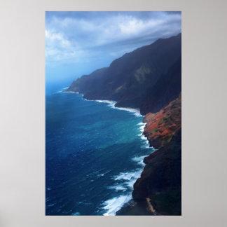 costa Kauai del pali del na Póster