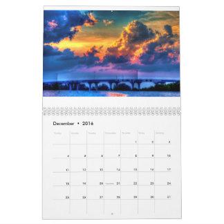 Costa la Florida del tesoro Calendario De Pared
