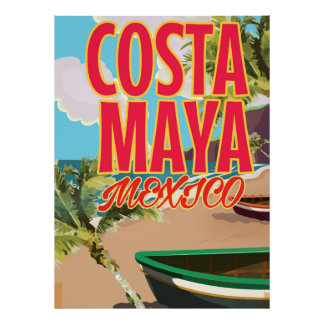 Costa Maya Mexico beach poster
