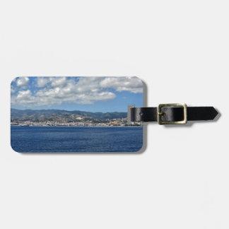 Costa mediterránea etiquetas maletas