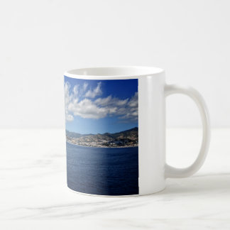 Costa mediterránea taza básica blanca