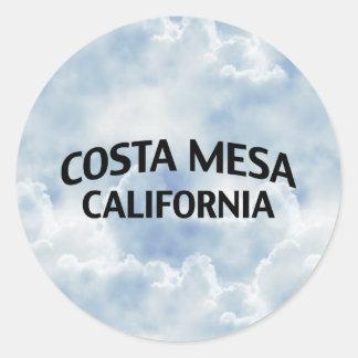 Costa Mesa California Classic Round Sticker