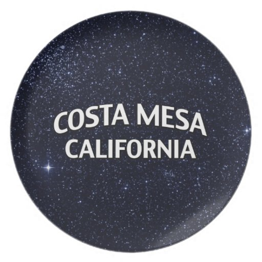 Costa Mesa California Dinner Plates