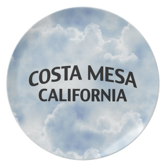 Costa Mesa California Plate