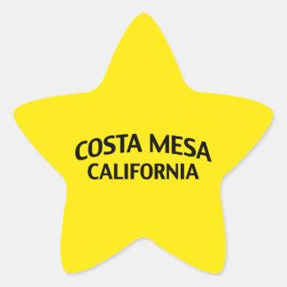 Costa Mesa California Star Sticker