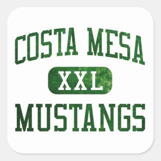 Costa Mesa Mustangs Athletics Square Sticker