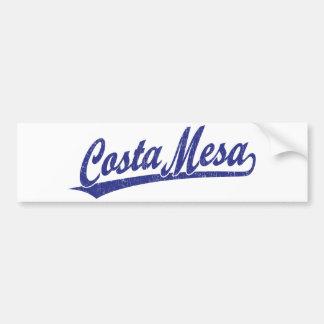 Costa Mesa script logo in blue Bumper Sticker