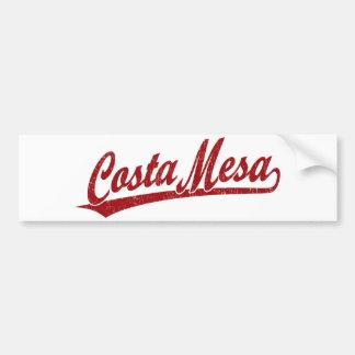 Costa Mesa script logo in red Bumper Sticker