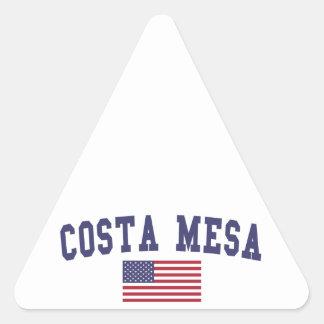 Costa Mesa US Flag Triangle Sticker