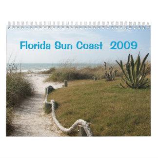 Costa oeste 2009 de la Florida Calendario De Pared