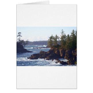 Costa oeste de la isla de Vancouver en aceites Tarjeta De Felicitación