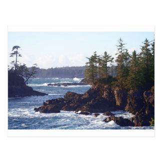 Costa oeste de la isla de Vancouver en aceites Postal