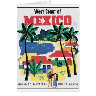 Costa oeste del gráfico colorido de México Tarjeton