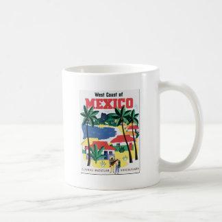 Costa oeste del gráfico colorido de México Tazas De Café