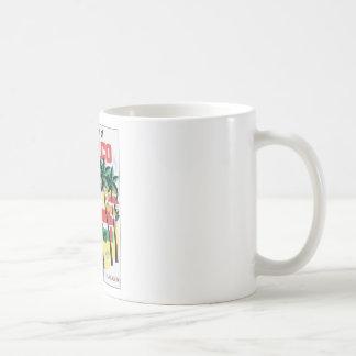 Costa oeste del gráfico colorido de México Taza De Café