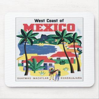 Costa oeste del vintage de México Alfombrilla De Ratones