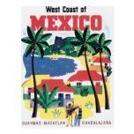 Costa oeste del vintage de México Tarjetas Postales