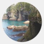 Costa oeste nanovatio pacífico del arte de la foto pegatinas redondas