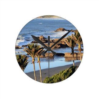 Costa oeste Nueva Zelanda de las palmas de Nikau Reloj Redondo Mediano