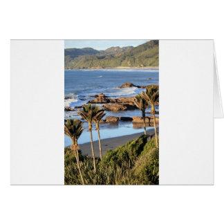 Costa oeste Nueva Zelanda de las palmas de Nikau Tarjeta De Felicitación
