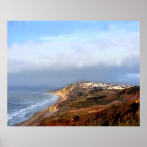 Costa panorámica de California septentrional Poster