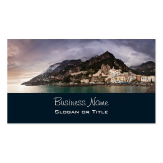 Costa pintoresca de Amalfi, ciudad de la playa de Tarjetas De Visita