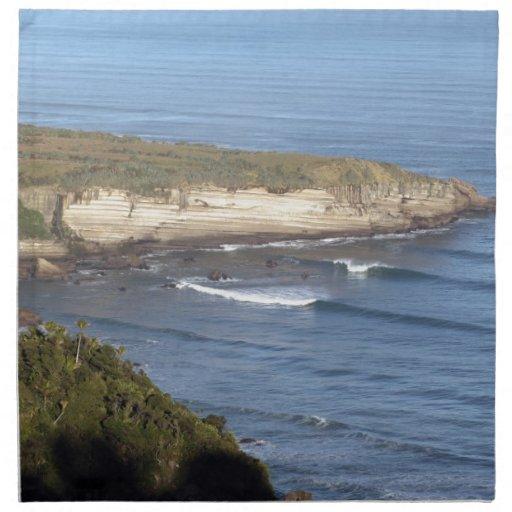 Costa que practica surf Nueva Zelanda Servilletas Imprimidas