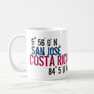 """Costa Rica 9° 56' 0"""" N 84° 5' 0"""" W Classic White Coffee Mug"""