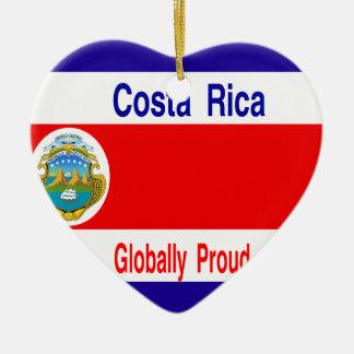Costa Rica Adorno Navideño De Cerámica En Forma De Corazón