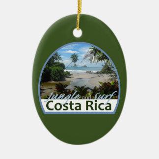 Costa Rica Adorno Navideño Ovalado De Cerámica