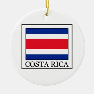 Costa Rica Adorno Navideño Redondo De Cerámica