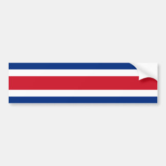 Costa Rica/bandera (civil) de Rican Etiqueta De Parachoque
