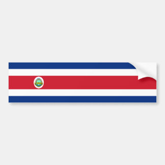 Costa Rica/bandera de Rican Etiqueta De Parachoque