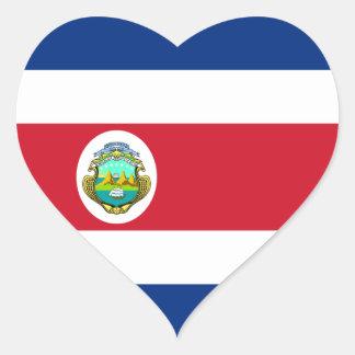 Costa Rica - bandera nacional de Rican de la costa Pegatina En Forma De Corazón