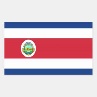 Costa Rica - bandera nacional de Rican de la costa Pegatina Rectangular