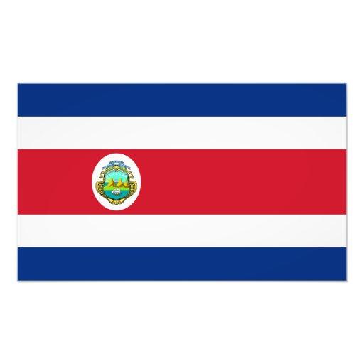 Costa Rica - bandera nacional de Rican de la costa Fotografia