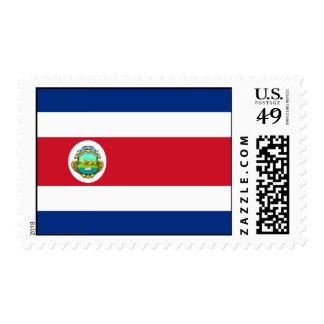 Costa Rica - bandera nacional de Rican de la costa Sellos Postales