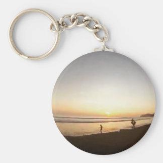 Costa Rica Beach Basic Round Button Keychain