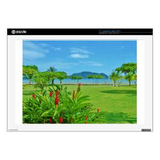 "Costa Rica beach outdoor 17"" Laptop Skin"
